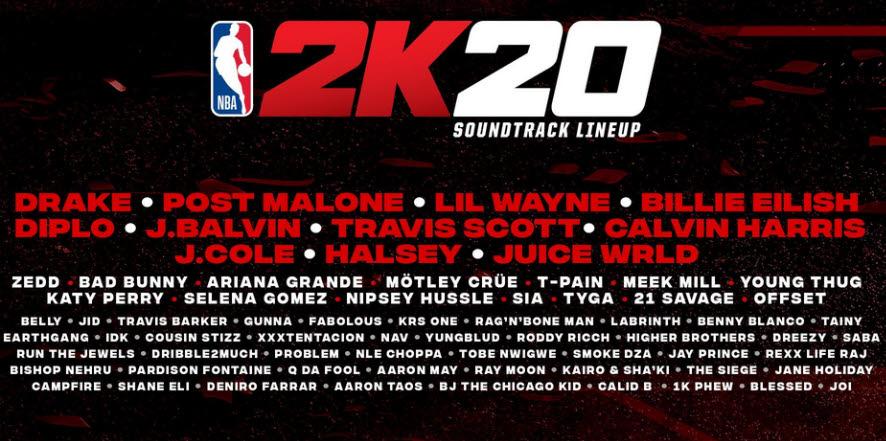 NBA® 2K20 läuft mit dynamischem Soundtrack